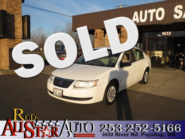 2007 Saturn Ion 2 The CARFAX Buy Back Guarantee that comes with this vehicle means that you can bu