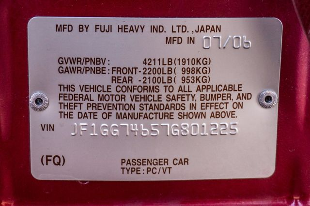 2007 Subaru Impreza WRX Reseda, CA 37