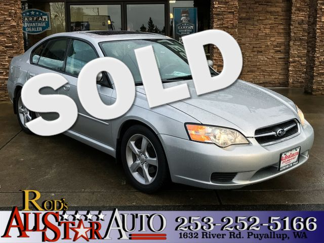 2007 Subaru Legacy Special Edition AWD The CARFAX Buy Back Guarantee that comes with this vehicle