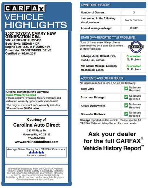 2007 Toyota Camry LE FWD POWER EVERYTHING! Mooresville , NC 3