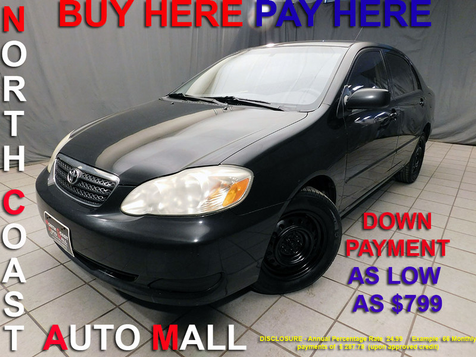 2007 Toyota Corolla LE As low as $799 DOWN in Cleveland, Ohio
