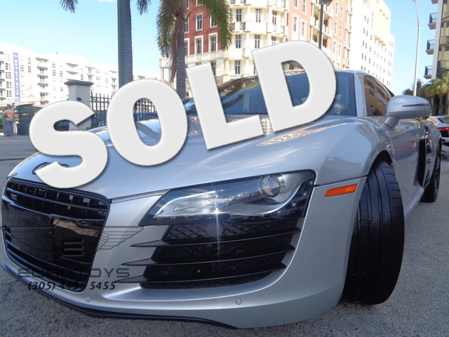 2008 Audi R8 2008 AUDI R8 WITH A BEAUTIFUL ICE SILVER METALLIC ON A BLACK LEATHER INTERIOR CLEAN