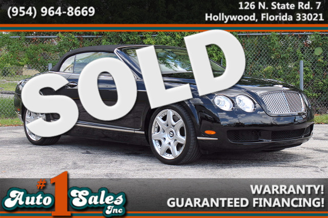 2008 Bentley Continental GTC  LIKE NEW CARFAX CERTIFIED AUTOCHECK CERTIFIED FLORIDA VEHICLE