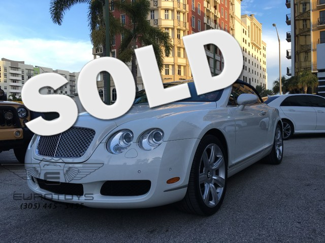 2008 Bentley Continental GTC  Vehicle Description 2008 Bentley GT  C Featured is a 2008 Bentle