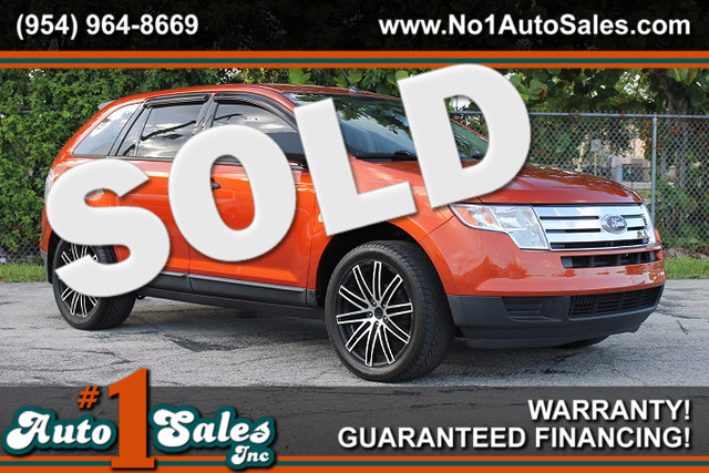 2008 Ford Edge SE  WARRANTY CARFAX CERIFIED AUTOCHECK CERTIFIED 2 OWNERS LOW MILES FLORIDA