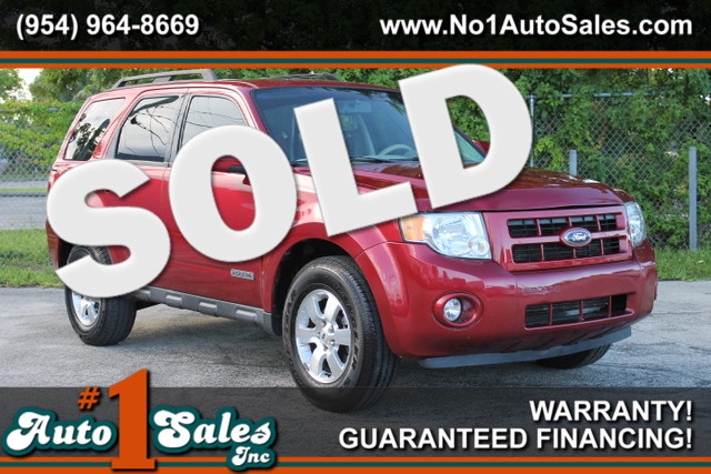2008 Ford Escape Limited  WARRANTY CARFAX CERIFIED 2 OWNERS 14 SERVICE RECORDS FLORIDA VEHI