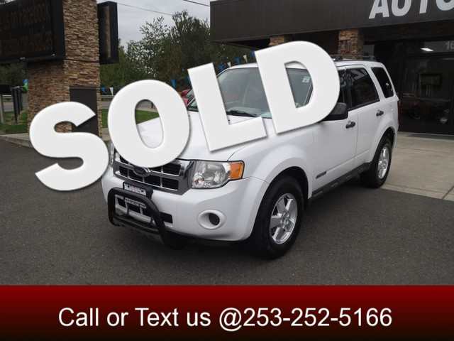2008 Ford Escape XLS The CARFAX Buy Back Guarantee that comes with this vehicle means that you can