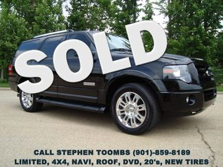 2008 Ford Expedition LIMITED 4X4, NAVI, ROOF, DVD, 20's, NEW TIRES, CAPTAINS in  Tennessee