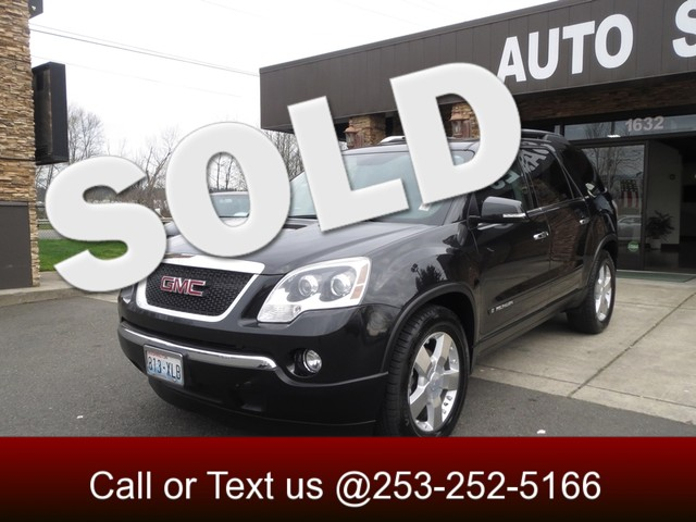 2008 GMC Acadia SLT2 AWD Our 2008 Acadia SLT2 delivers what most folks like about full-sized SUVs