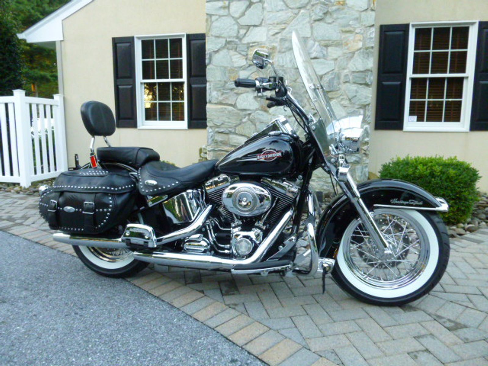 2008 flstc heritage softail classic used harley davidson softail for sale in manheim. Black Bedroom Furniture Sets. Home Design Ideas
