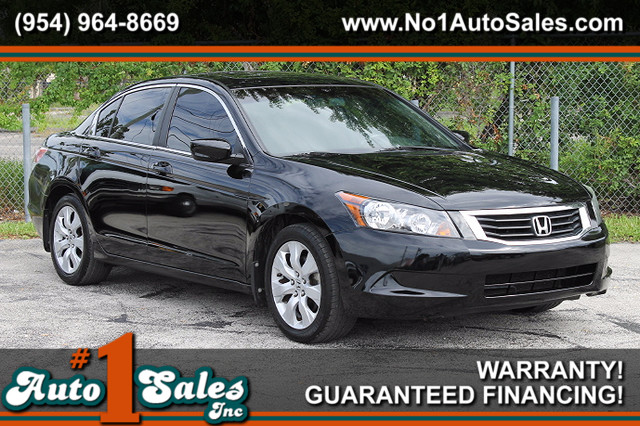 2008 Honda Accord EX-L  WARRANTY CARFAX CERTIFIED 3 OWNER 12 SERVICE RECORDS FLORIDA VEHICL