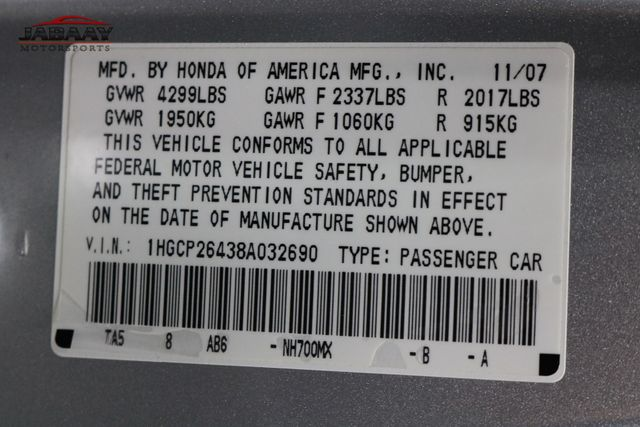 2008 Honda Accord LX-P Merrillville, Indiana 45