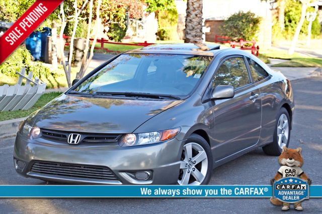 2008 Honda CIVIC EX COUPE SUNROOF AUOMATIC 1-OWNER SERVICE RECORDS Woodland Hills, CA 0