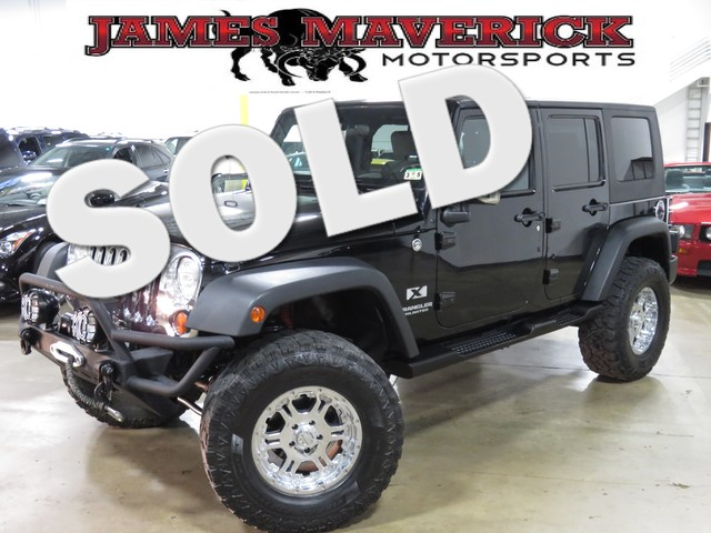 2008 Jeep Wrangler Unlimited X MODIFIED WITH JUST THE RIGHT STUFF 18 chrome wheels hard top and