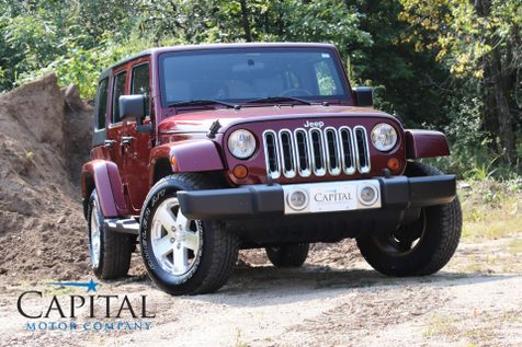 2008 Jeep Wrangler Unlimited Sahara 4x4 w/Freedom Hardtop, Infinity Audio, Remote Start & Tow Pkg in Eau Claire