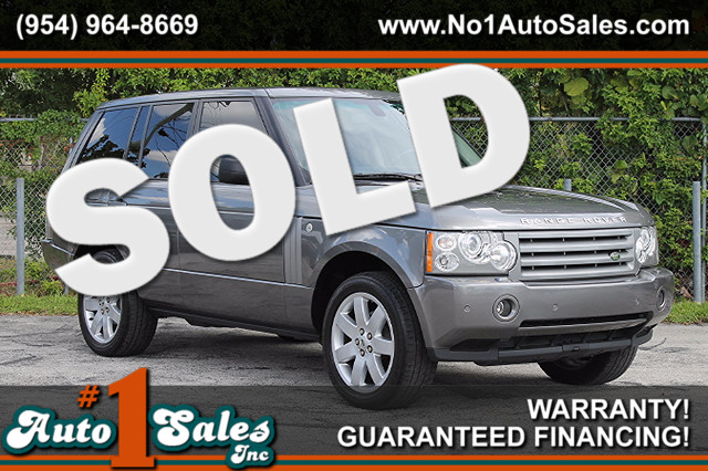2008 Land Rover Range Rover HSE  WARRANTY CARFAX CERTIFIED AUTOCHECK CERTIFIED 5 SERVICE REC