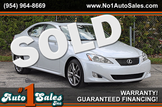 2008 Lexus IS 250  WARRANTY CARFAX CERTIFIED AUTOCHECK CERTIFIED 17 SERVICE RECORDS FLORIDA