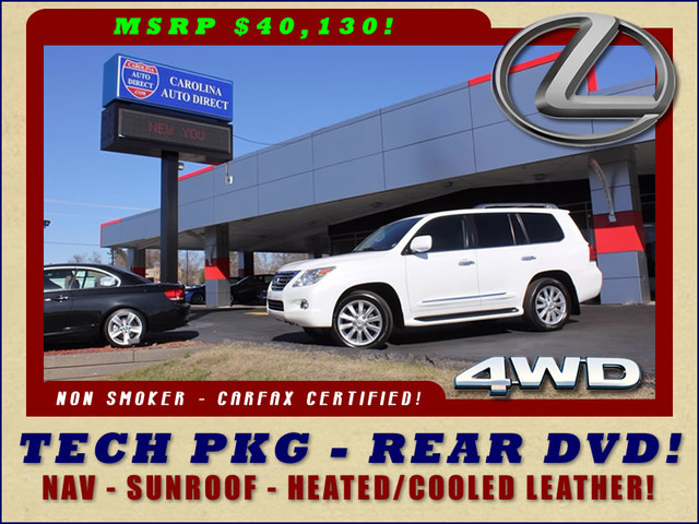 2008 Lexus LX 570 4WD - TECH PKG - REAR DVD - HEATED/COOLED LEATHER! Mooresville , NC 0