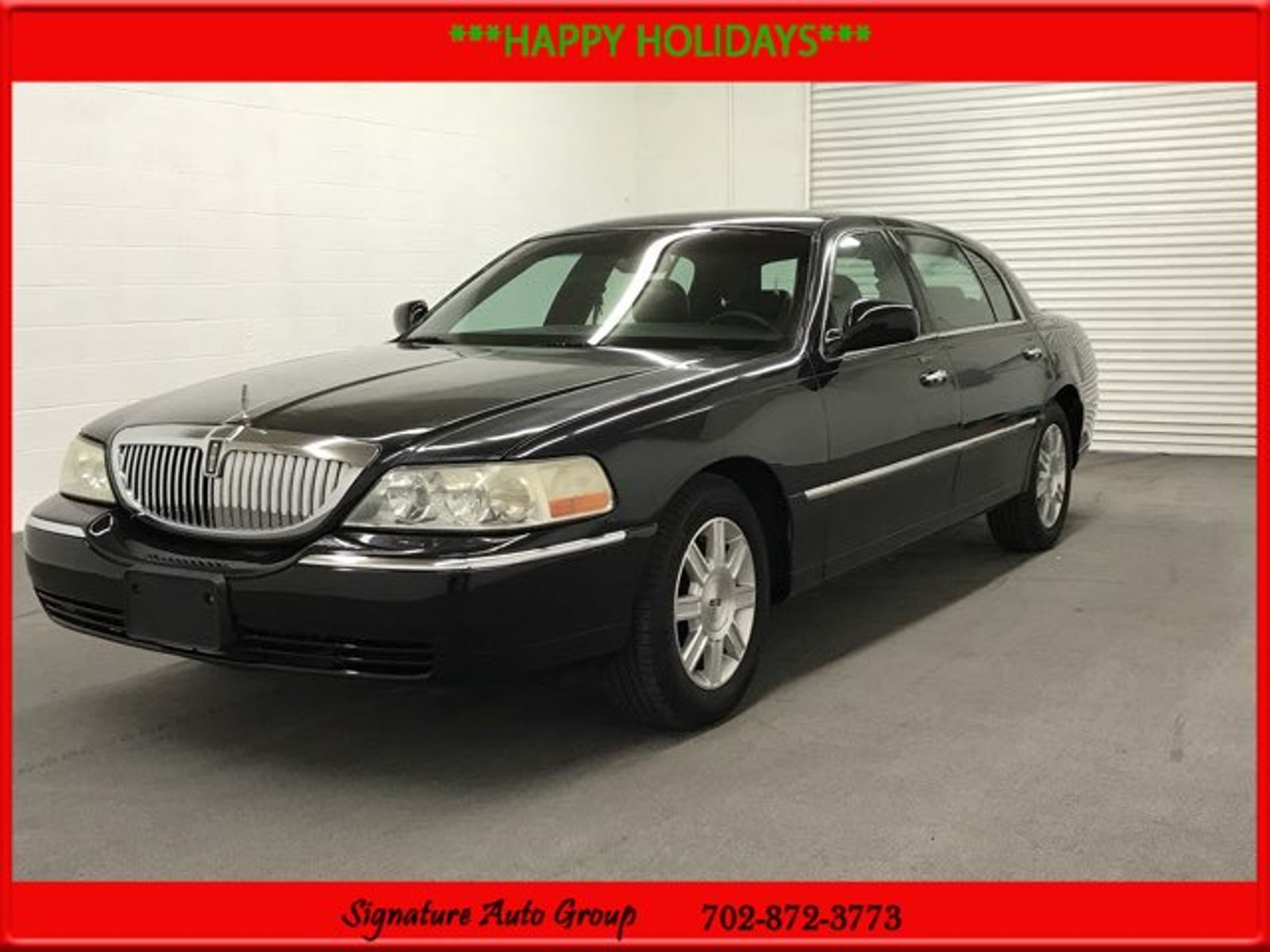 2008 black executive l used lincoln town car for sale in las vegas nevada. Black Bedroom Furniture Sets. Home Design Ideas