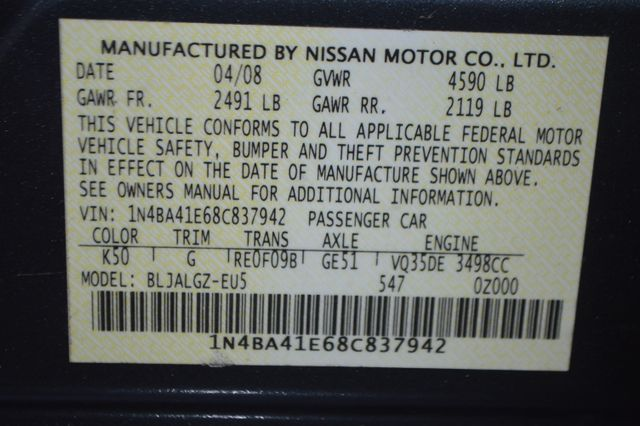 2008 Nissan Maxima 3.5 SL Tampa, Florida 33