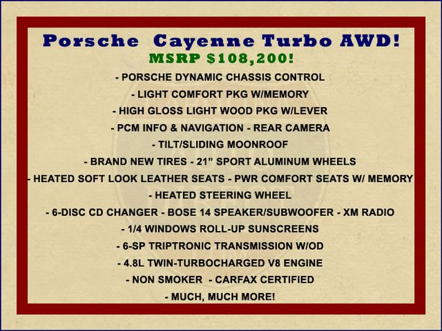 2008 Porsche Cayenne Turbo AWD - NAV - SUNROOF - NEW TIRES! Mooresville , NC 1