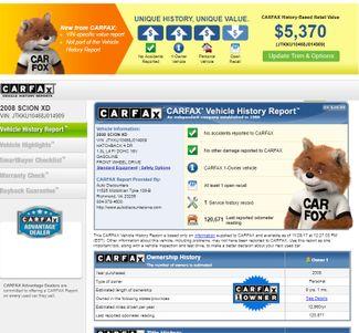 2008 Scion XD EXC COND 1 OWNER CLEAN CARFAX & TITLE Richmond, Virginia 48