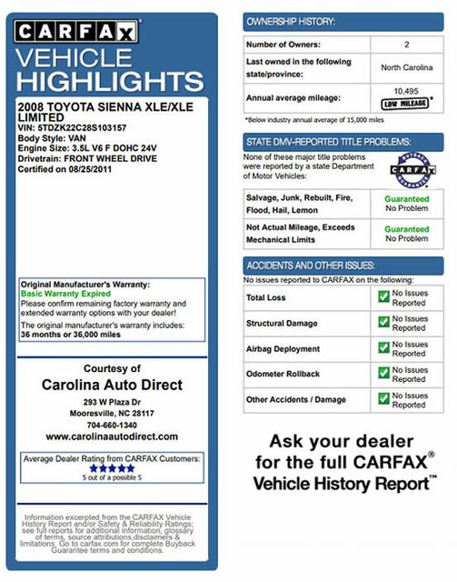 2008 Toyota Sienna XLE - REAR DVD - SUNROOF - HEATED LEATHER! Mooresville , NC 3