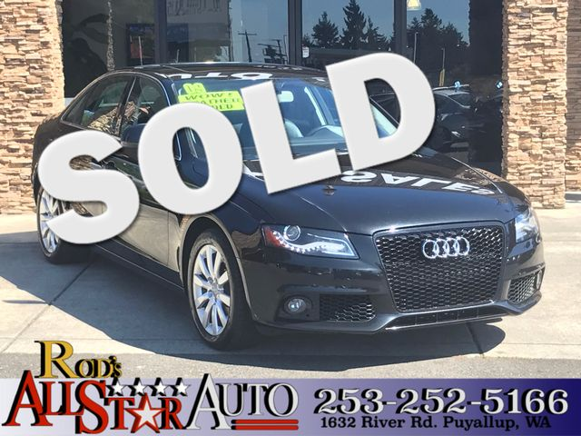 2009 Audi A4 20T AWD Premium The CARFAX Buy Back Guarantee that comes with this vehicle means tha