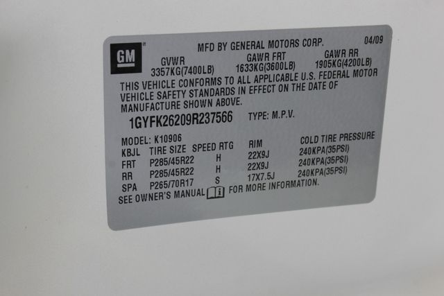 2009 Cadillac Escalade ESV AWD ULTRA LUXURY EDITION W/NAV-DUAL DVDS-SUNROOF! Mooresville , NC 53