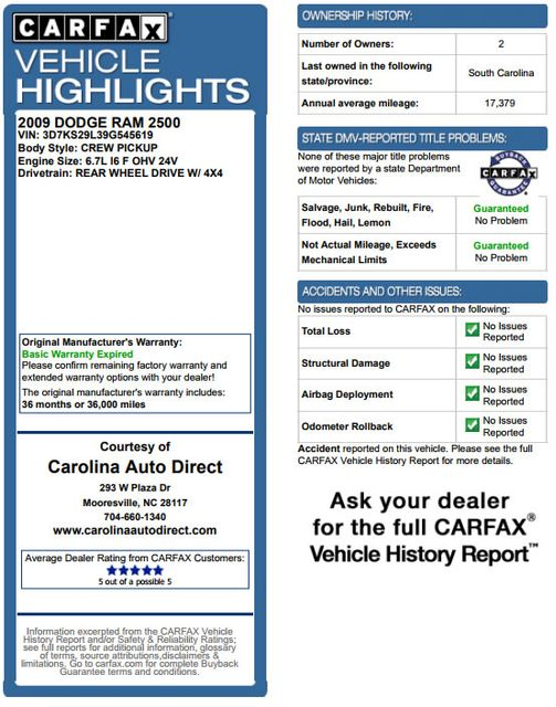 2009 Dodge Ram 2500 Laramie MEGA Cab 4x4 - LIFTED - LOT$ OF EXTRA$! Mooresville , NC 3