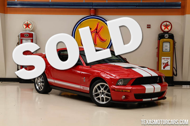 2009 Ford Mustang Shelby GT500 This 2009 Ford Mustang Shelby GT500 is in great shape with only 877