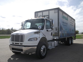 2009 Freightliner M2 24' Cargo Truck, Sliding Curtains, Lift, Auto ., . 10