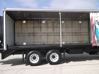 2009 Freightliner M2 24' Cargo Truck, Sliding Curtains, Lift, Auto ., . 25