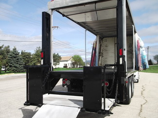 2009 Freightliner M2 24' Cargo Truck, Sliding Curtains, Lift, Auto ., . 30