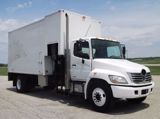2009 Hino 338 Document Shredder Truck, 16' - 20' Box, Auto ., .