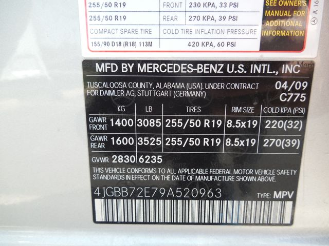 2009 Mercedes-Benz ML550 5.5L Leesburg, Virginia 35