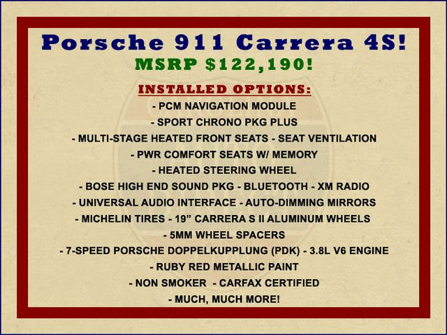 2009 Porsche 911 Carrera 4S AWD - NAV - HEATED/VENTILATED LEATHER! Mooresville , NC 1
