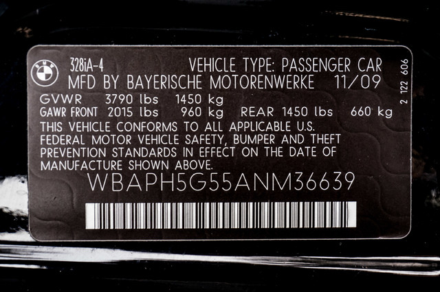 2010 BMW 328i  AUTO - 83K MILES - CD PLAYER - BLACK/BLACK Reseda, CA 32