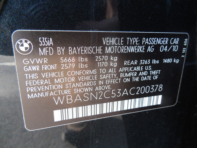 2010 BMW 535i Gran Turismo Leesburg, Virginia 42