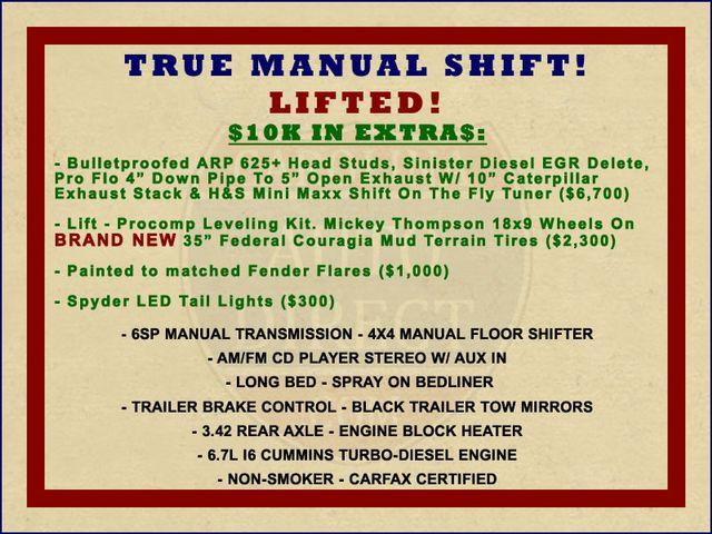 2010 Dodge Ram 3500 Crew Cab Long Bed 4x4 -TRUE MANUAL SHIFT! Mooresville , NC 1
