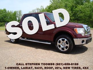 2010 Ford F-150 LARIAT 1-OWNER, NAVI, ROOF, 20's, NEW TIRES, 4X4 in  Tennessee