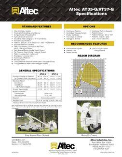 2010 Ford F550 Bucket Truck, 37' Altec, 350 lbs., 4X4, Auto ., . 39