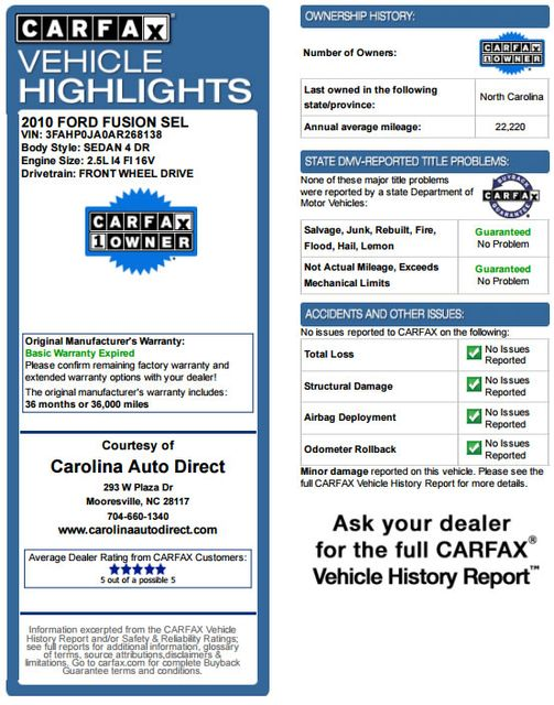 2010 Ford Fusion SEL - APPEARANCE PKG - HEATED LEATHER! Mooresville , NC 3