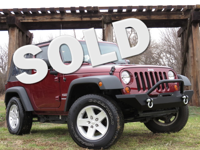 2010 Jeep Wrangler Sport CLEAN CARFAX BUMPERS AND TIRE CARRIER INFINITY SOUND WSUB Equipped w