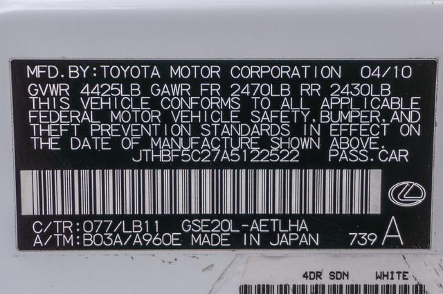 2010 Lexus IS 250 AUTO - 67K MILES - NAVI - HTD/CLD STS Reseda, CA 38
