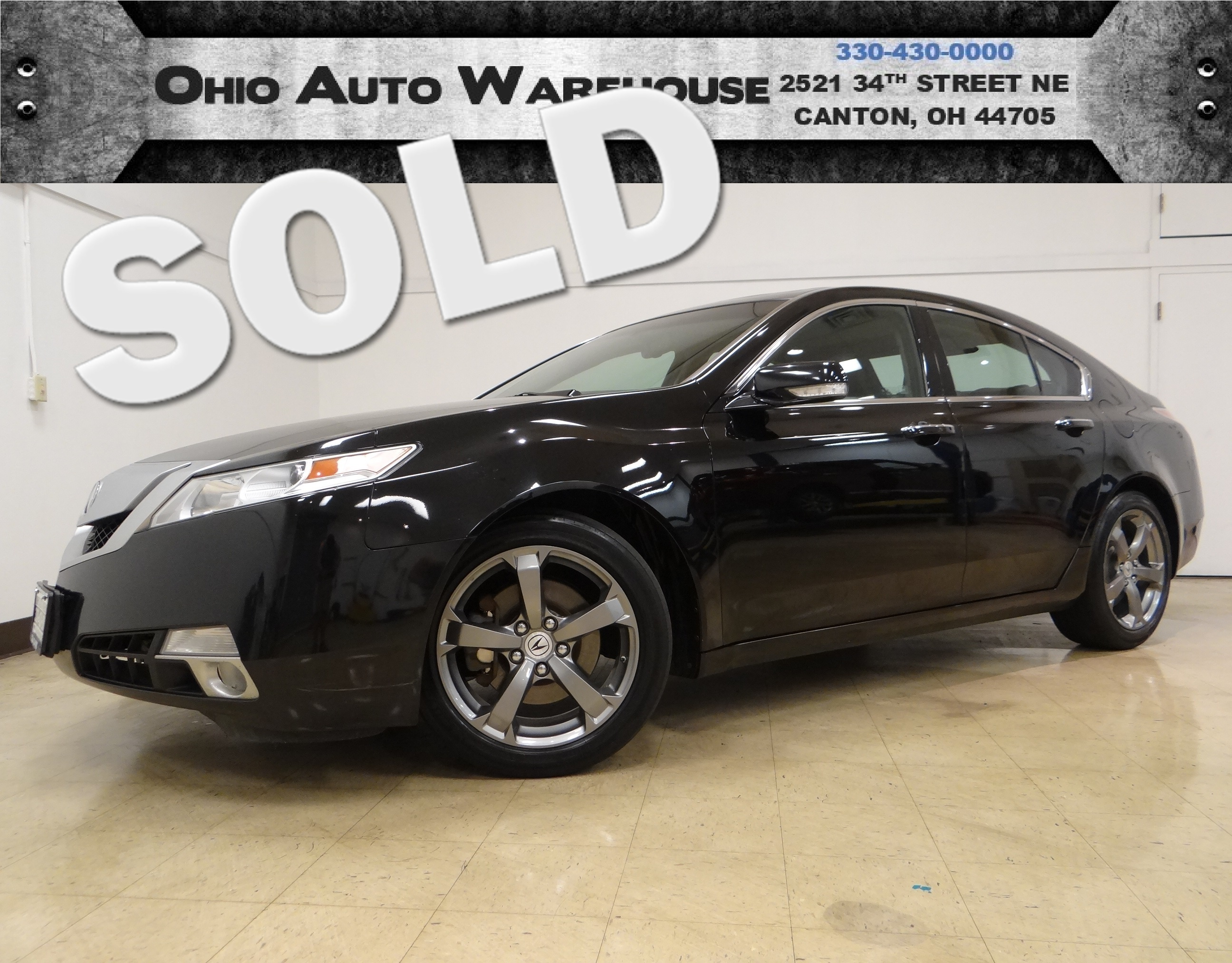 2011 Acura TL AWD Navi Sunroof Clean Carfax We Finance in Canton Ohio