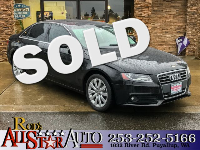 2011 Audi A4 20T Premium Plus The CARFAX Buy Back Guarantee that comes with this vehicle means th