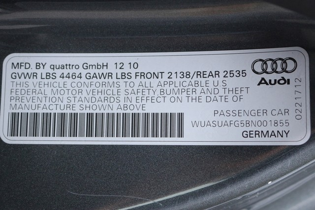 2011 Audi R8 Roadster 4.2L Mooresville, North Carolina 91