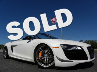 2011 Audi R8 MATTE WHITE 5.2 SPYDER TOP SPEED MOTORSPORTS Tampa, Florida