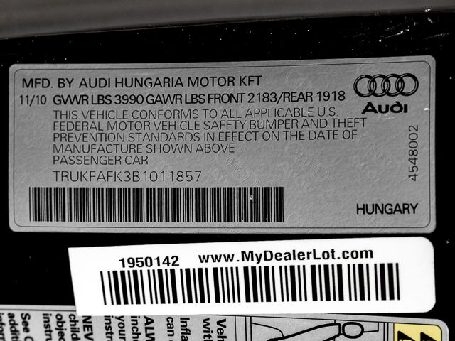 2011 Audi TT 2.0T Prestige Burbank, CA 12